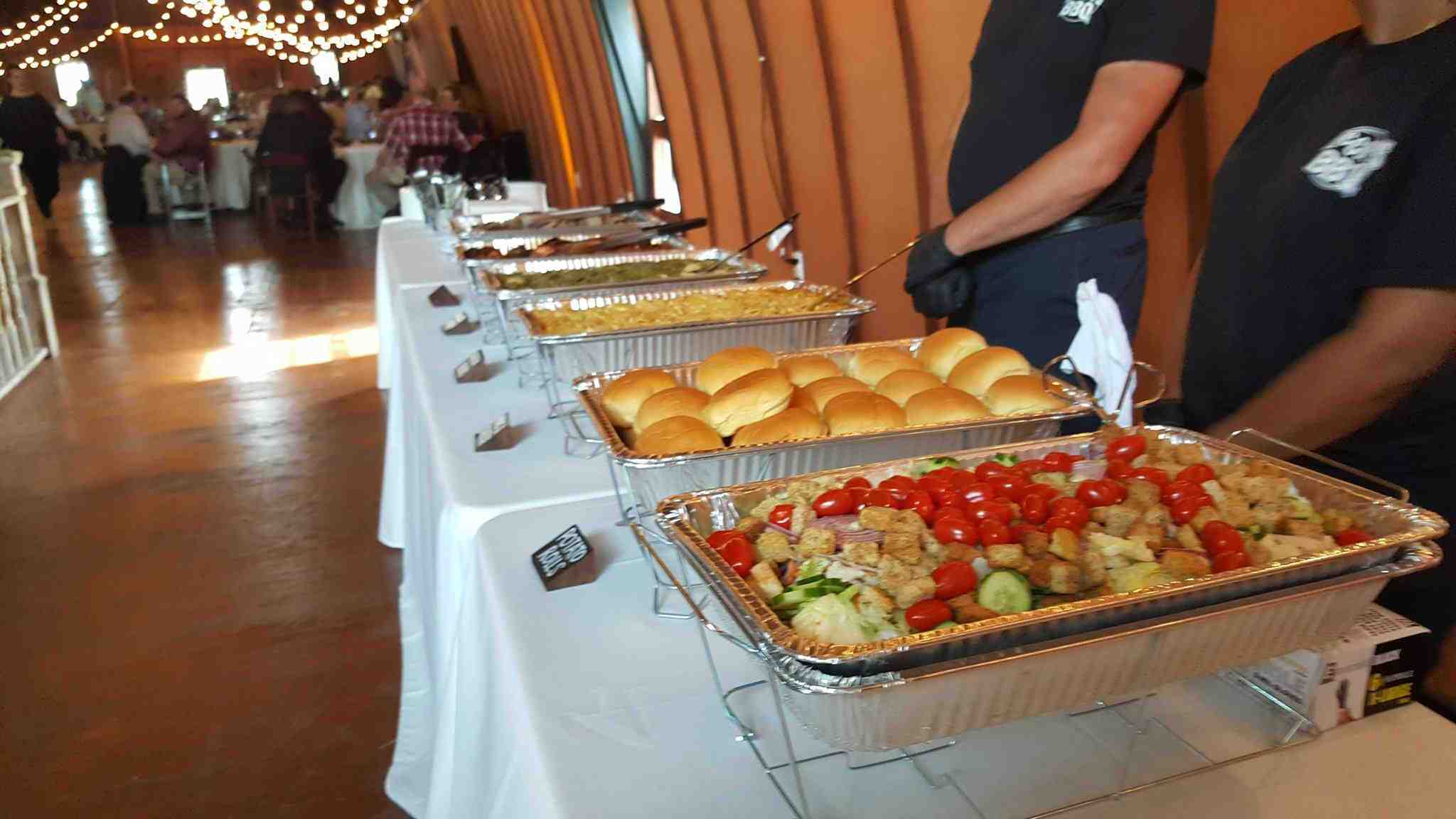 barbeque catering at wedding in fredericksburg